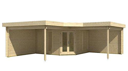 Blockhaus DUBLIN 368 + 310 x 368 + 310cm Gartenhaus 45mm Holzhaus