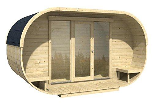 Blockhaus OVAL OFFICE 405 x 400cm Gartenhaus 28mm Holzhaus Büro