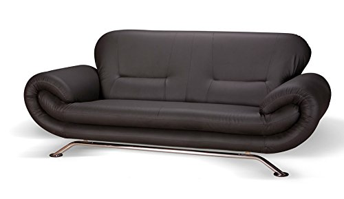 brix 3 sitzer sofa kunstleder schwarz m bel24. Black Bedroom Furniture Sets. Home Design Ideas