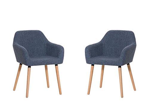 clp 2x esszimmerstuhl achat mit hochwertiger polsterung und stoffbezug 2er set retrostuhl mit. Black Bedroom Furniture Sets. Home Design Ideas