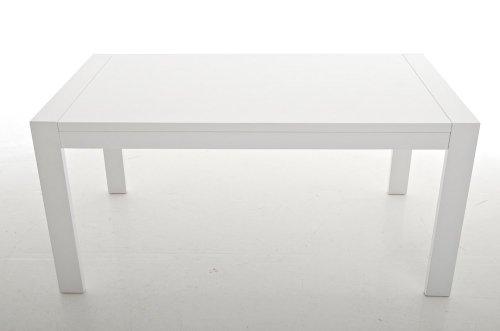 CLP Design-Esszimmertisch LOUIS aus Holz I Pflegeleichter Küchentisch I Weiß lackierter Wohnzimmertisch I In verschiedenen Größen erhältlich 160 x 90 cm