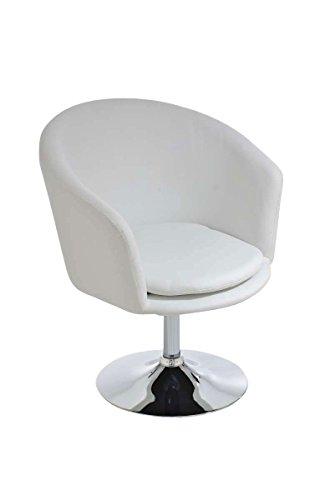 CLP Design Lounge-Sessel/Clubsessel EVAN, hoher Sitzkomfort durch dicke Polsterung (aus bis zu 6 Farben wählen) Weiß