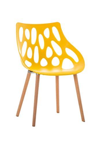 clp retrostuhl hailey mit pflegeleichter kunststoff sitzschale und einer sitzh he von 44 cm i. Black Bedroom Furniture Sets. Home Design Ideas