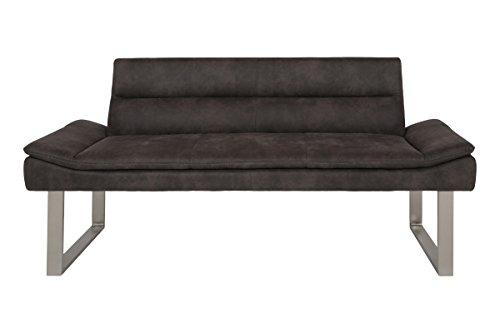 Canett Furniture Mali Sofa 3 Sitzer Modern, Stoff, Anthrazit Grau Couch, 180 x 62 x 82 cm