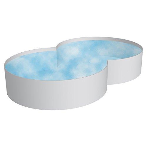 Chemoform Pool Schwimmbecken Achtform Stahlwand 3 Größen Höhe 120 cm Swimmingpool 4,60 x 7,25 x 1,20 m