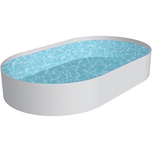 Pool Schwimmbecken OVAL Stahlwand Höhe 150 cm inkl Technikpaket 3,20 x 5,25 x 1,50 m