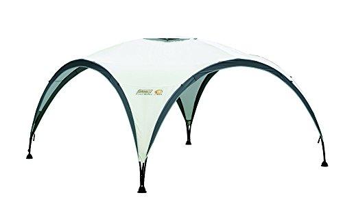 Coleman Event Shelter, L 3,6 x 3,6 m, Pavillon, stabiles Partyzelt mit Stahlgestänge, Gazebo, Eventzelt, Sonnenschutz SPF 50+, hellgrau-grün
