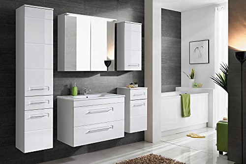 active 821 badschrank mdf laminierte platte wei 46 x 80 x 57 cm m bel24. Black Bedroom Furniture Sets. Home Design Ideas