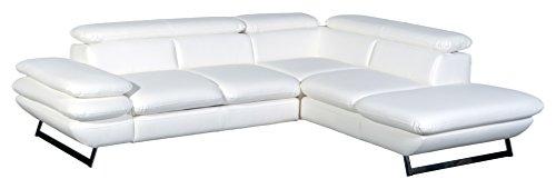 Cotta C733891 D200 Polsterecke Lederimitat, weiß, 265 x 223 x 74 cm