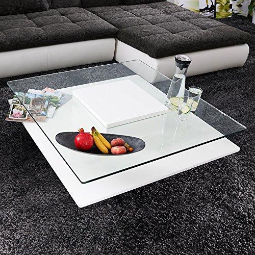 moebella couchtisch wei hochglanz quadratisch porto. Black Bedroom Furniture Sets. Home Design Ideas