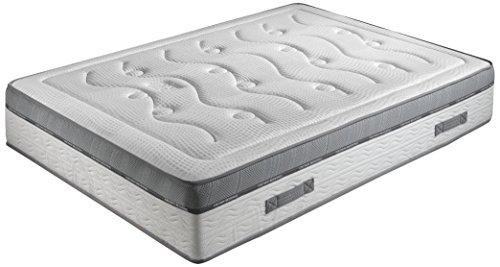 Crown Bedding J88101200 Royal Spring 800 Matratze Taschenfederkern, H4 Form-Gel mit Memoryeffekt, 140 x 200 cm