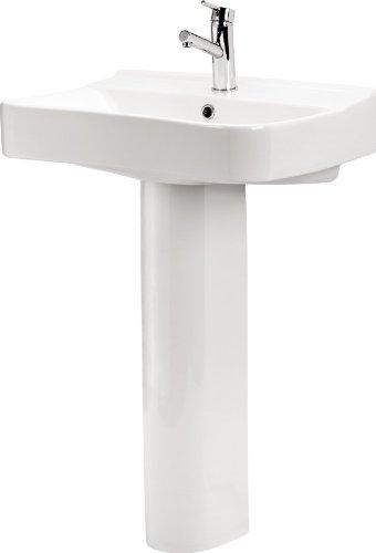 domino keramik waschbecken weiss 61 5 cm 73175 m bel24. Black Bedroom Furniture Sets. Home Design Ideas