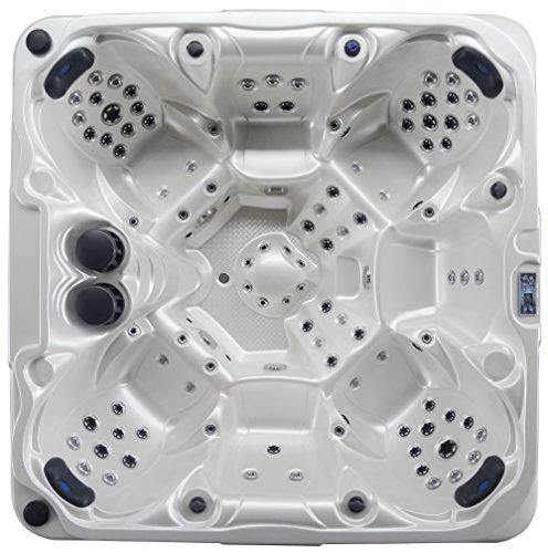 Der Hammer Luxus Outdoor SPA Whirlpool Aussenwhirlpool Hot Tub für bis zu 7 Per. mit Balboa Steuerung, zusätzlicher Isolierung und vielen Extras