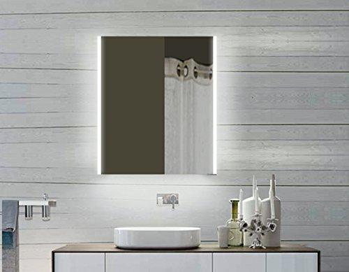 Lux-aqua Design LED Badezimmerspiegel Badspiegel Lichtspiegel mit LED Beleuchtung 60 x 80