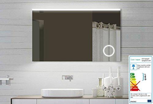 lux aqua design led badezimmerspiegel badspiegel lichtspiegel mit schminkspiegel mit beleuchtung. Black Bedroom Furniture Sets. Home Design Ideas