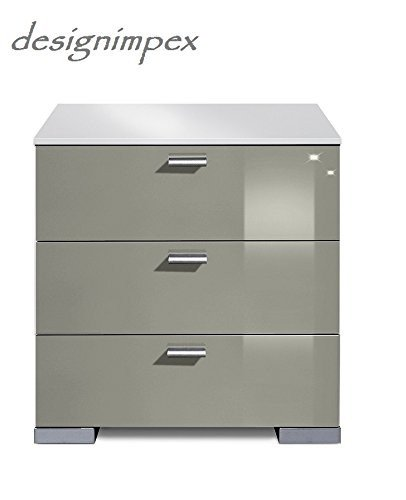 design nachtkonsole nachtkommode boxspringbett boxspring a 2 grau wei hochglanz neu m bel24. Black Bedroom Furniture Sets. Home Design Ideas