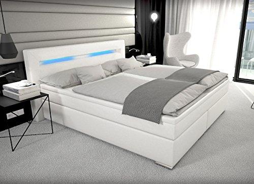 Designer Boxspring Bett Paris Mit Bettkasten Led Beleuchtung 180 200 Cm Farbe Schwarz Mit Matratze
