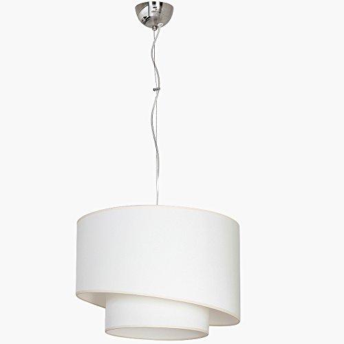Designer Hängeleuchte Deckenleuchte E27 60WATT LED Sidney Lx7001-Lx7006 (Creme-Weiss)