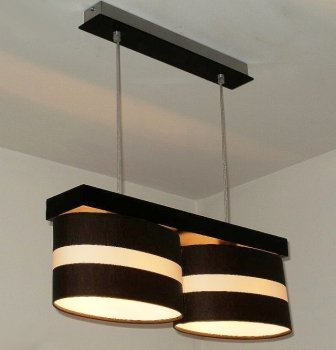 """Designer Pendellampe Hängeleuchte 2 flammig Model """"Barcelona"""" Elipse Schirm-lampe Pendel-leuchte Küchen-lampe Esszimmerlampe Raumlampe - Riesen auswahl!!"""