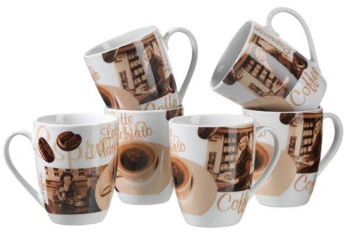 MÄSER Serie Latte Macchiato, Kaffeebecher 280 ml, Tassen im 6-er Set