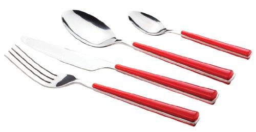 MÄSER, Serie Shiny, Besteckgarnitur 24-teilig, Besteck in der Farbe Rot