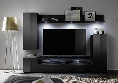 dreams4home medienschrank ari schrank vitrine tv schrank wohnwand wohnelement wohnzimmer. Black Bedroom Furniture Sets. Home Design Ideas