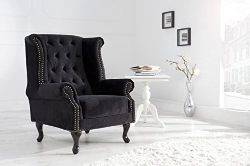 dunord design ohrensessel chesterfield schwarz m bel24. Black Bedroom Furniture Sets. Home Design Ideas