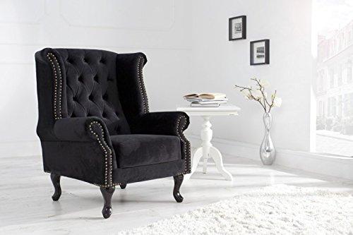 dunord design ohrensessel chesterfield schwarz m bel24. Black Bedroom Furniture Sets. Home Design Ideas