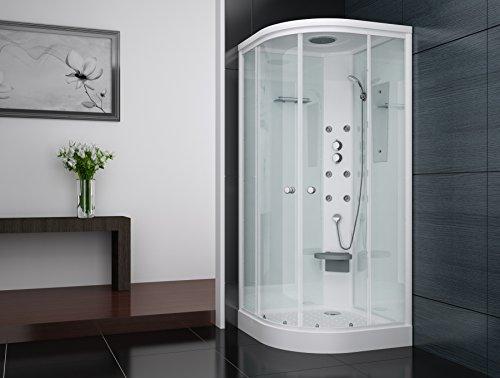 Duschkabine Duschtempel Weiss 90x90 Duschkabine mit Regendusche