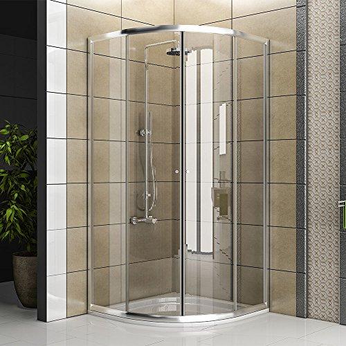 Duschkabine aus klarem sicherheitsglas echtglas dusche for Schlafsofa 90 x 190