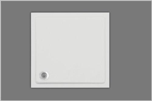 Unbekannt Duschwanne 75 x 75 Quadrat, aus Acryl, Farbe weiß, Höhe 2,5cm