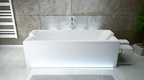 Exclusive line rechteck acryl badewanne quadro 180x80 mit for Exclusive esszimmertische