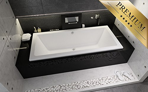 exclusive line rechteck badewanne riho lusso 180x90 mit. Black Bedroom Furniture Sets. Home Design Ideas
