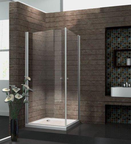 Glas Dusche Rahmenlos : Echt-Glas-8-mm-Duschkabine-Duschabtrennung-Dusche-Rahmenlos-90-x-90-x