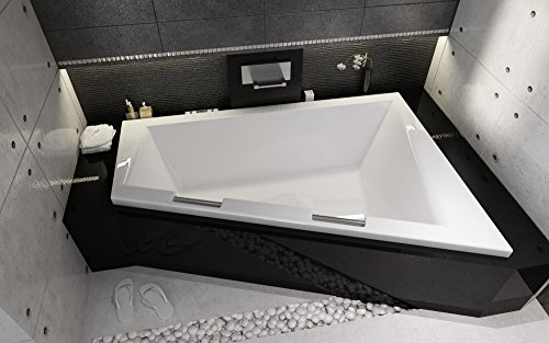 eckige acryl badewanne eckbadewanne riho doppio 180x130 cm. Black Bedroom Furniture Sets. Home Design Ideas
