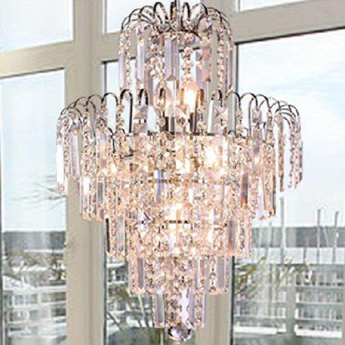 Elegante Europa-Art-Kristall-Kronleuchter Moderne Deckenleuchte-Lampe hängende Beleuchtung-Befestigung