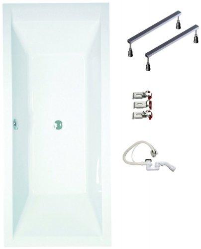galdem badewannen set gabwset120rf 180 x 80 cm hochwertiges wannen komplett set bestehend aus. Black Bedroom Furniture Sets. Home Design Ideas