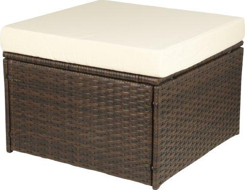 gartenfreude hocker polyrattan aluminiumgestell. Black Bedroom Furniture Sets. Home Design Ideas