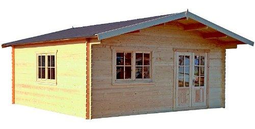 Gartenhaus BERLIN Blockhaus Holzhaus 600 x 600 cm + Zwischenwände - 45 mm