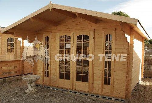 Gartenhaus CAMILLA - A40 Blockhaus Holzhaus 380 x 320 cm - 40 mm