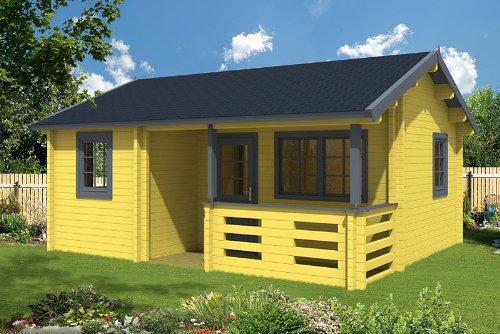 Gartenhaus FALUN A 58 Blockhaus 595 x 500 cm Holzhaus 58 mm Holz NEU