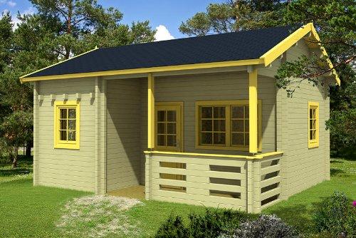 Gartenhaus FALUN B 70 + Schlafboden Blockhaus 595 x 500 cm Holzhaus 70 mm Holz