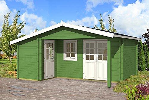 Gartenhaus HELSINKI I - 58 Blockhaus Holzhaus 530 x 445 cm - 58 mm Ferienhaus