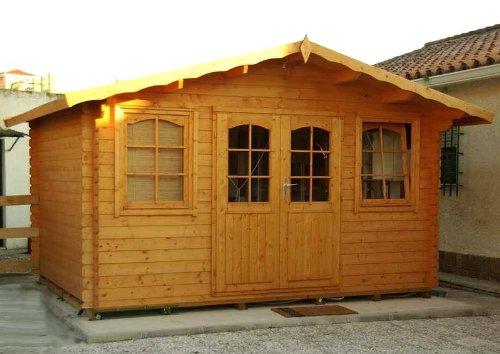 Gartenhaus HOBY NERVION Ferienhaus Blockhaus Holzhaus 400 x 300 cm - 28 mm