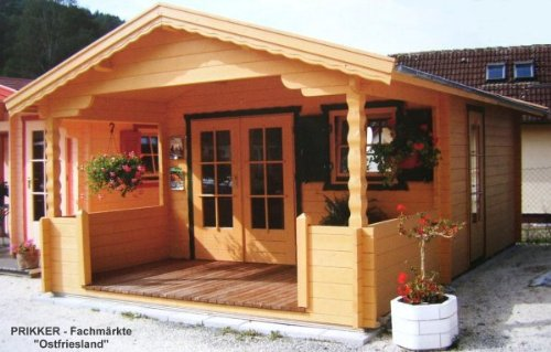 Gartenhaus Ostfriesland Blockhaus 420 x 570cm - 45mm Gartenlaube Holzhaus Holzlaube