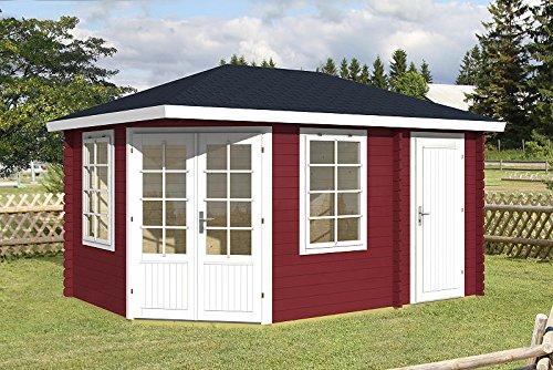 Gartenhaus ROMA 40 Blockhaus Holzhaus 440 x 300 cm - 40 mm Ferienhaus