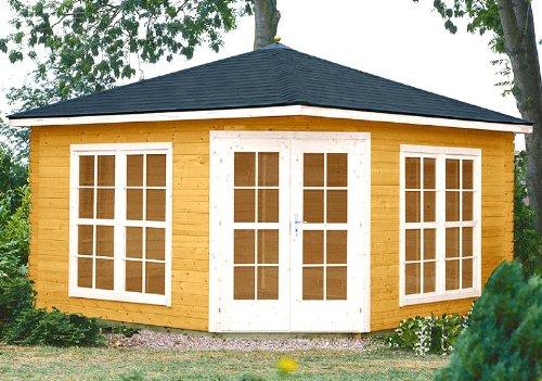gartenhaus victoria c40 pavillon 400x400cm 40mm inkl fu boden verglasung m bel24. Black Bedroom Furniture Sets. Home Design Ideas