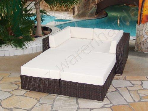 Gartenmöbel / Lounge Set Polyrattan braun meliert - Modena 8