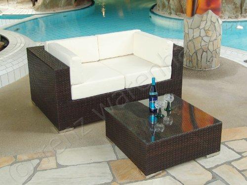 Gartenmöbel / Lounge Set Polyrattan schwarz - Modena 12