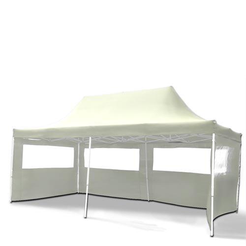 Gartenpavillon TENT06 Aluminium Faltpavillon 3 x 6 m Creme